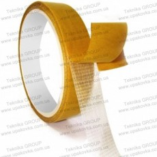 Double-sided fabric-backed adhesive tape