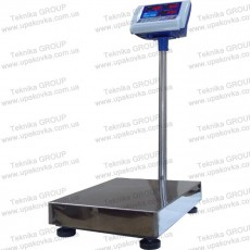 Floor electronic platform scales with price registration sensor